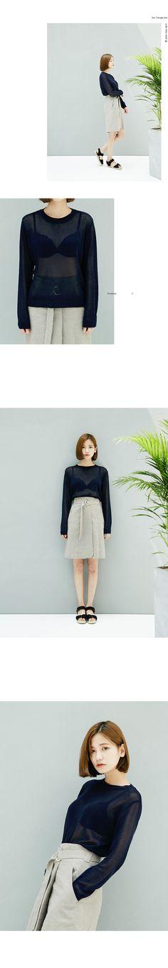 MOSSBEAN | SEE-THROUGH 이지 knit | TOP