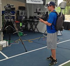 Our #WMTlive, Canon Cinema camera and Sony Professional camera's. Lovely crowd at Dallas Cowboys TV compound.