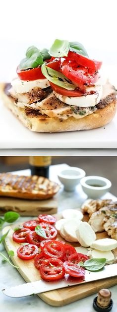 Grilled Chicken Caprese Sandwich -- Marinating the chicken in a quick olive oil and lemon flavored soak infuses flavor and moisture | foodiecrush.com