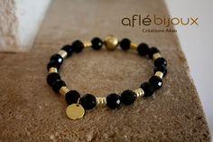 African Bracelet Aflé Bijoux Black Onyx Bracelet B #aflebijoux #bijoux #etsy #jewelry