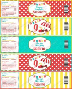Instant Download  Summer Fun Printable Water Bottle Labels