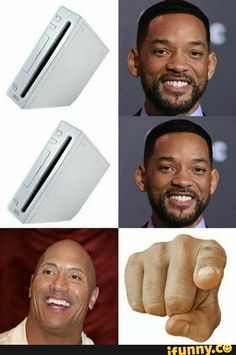 "Game console will Smith game console will Smith Dwayne ""the rock"" Johnson finger pointing???? (Lol yes I know what it's supposed to be but let me have this joke)"
