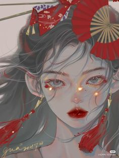 Anime Girl Cute, Beautiful Anime Girl, Anime Art Girl, Anime Guys, Manga Anime, Anime Fantasy, Fantasy Art, Chinese Drawings, Girly Drawings