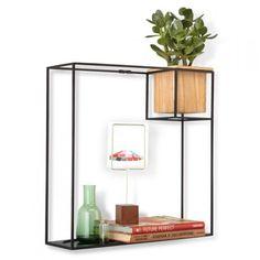 Umbra Cubist Shelf Voor - te vinden op www.acaza.be/umbra-cubist-shelf-large-muurdisplay-zwart
