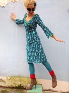 Herz-Dame,Wickeloptik,BIO-Jersey von Herzstück Frauenkleider auf DaWanda.com