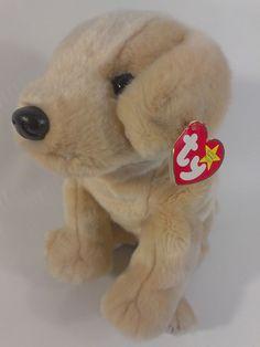 "Ty #Fetch #Yellow #Lab #Labrador #Puppy #Dog #BeanieBuddies 12"" Plush 1999 Animal Toy  #Ty"