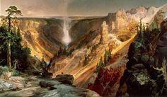 """Grand Canyon of the Yellowstone"" Thomas Moran, 1872"