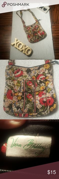 """Vera Bradley Crossbody Hipster in """"Poppy Fields"""" Vera Bradley Crossbody Hipster Bag in """"Poppy Fields"""" 11 x 9.5 x 2   Some signs of wear shown in Pictures. Pre Loved with lots of life left.  Multi Color Vera Bradley Bags Crossbody Bags"""