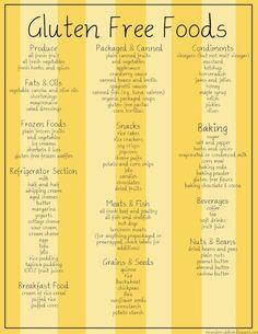 Gluten free foods!