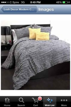 maybe just a gray bedspread so i can put whatever pillows and colors i want so i kinda want this more with like  teal bed sheets underneath i want this more