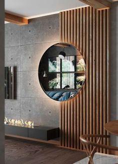 Home Room Design, Interior Design Living Room, Living Room Designs, Interior Decorating, House Design, Loft Design, Design Bedroom, Interior Cladding, Wall Cladding