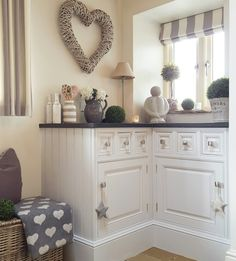 Pale Grey Kitchen Grey Striped Blinds Country Kitchen Home....