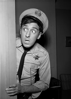 Reserve Deputy Gomer, not the bravest on the Mayberry Force