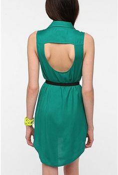 UrbanOutfitters.com > Sparkle & Fade Open-Back Sleeveless Shirtdress. #diy #sew #cut #idea #dress #summer