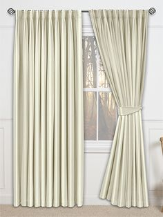 Eminence Faux Silk Sand Curtains From Curtains 2go