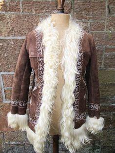 Original 60s Boho Chic Hippy Afghan Style Coat