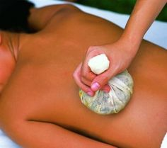 Thai Bomb Massage is a traditional treatment from Thailand. Its focus is in balancing the Life energy or 'Prana' flowing in the body by stimulating the Sen Sib lines–the major channels in which the Prana flows. The herbs utilized are a traditional blend from the Wat Po temple in Bangkok. A steamed herbal ball is pressed along the lines (or acupressure zones) in a series of motions to clear any blockages and stimulate blood flow and lymphatic drainage.