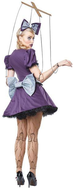 Adult Marionette Malvinia Funny Doll Costume | Costume Craze