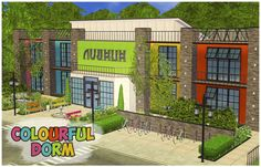 """A house-request to build a colourful dorm. I promiced to upload this lot a month ago. Ooops, sorry for such a delay ^_^"""" This lot is fully furnished and CC-heavy. It has 6 bedrooms, canteen, library..."""