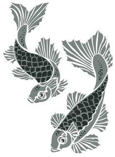 Koi Carp Stencil – Henny Donovan Motif