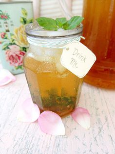 Rose and Mint Iced Green Tea #recipe #tea #rose #mint #drink