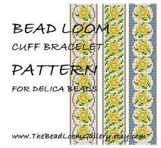 Bead Loom Cuff Bracelet Pattern Vol.34 - The March Daffodil - PDF File PATTERN