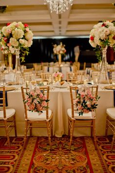 Spring Elegance Ballroom wedding reception - Photography: Mosca Studio #weddingcenterpieces #weddingcenterpiece #centerpiece #weddingflowers #weddingdecorations #weddingchairs #weddingdecor #bellethemagazine