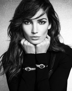 Introducing Lily Aldridge as the new face of #BVLGARI. Incarnating the perfect Roman beauty, Lily is #LargerThanLife