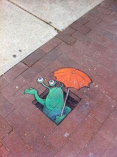 David Zinn Chalk | Street Art / Street Chalk Drawings by David Zinn