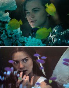 vkng7:   Leonardo DiCaprio and Claire Danes in Romeo + Juliet (1996)
