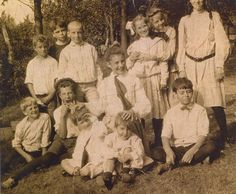 Cole Porter as a child, front row, right.