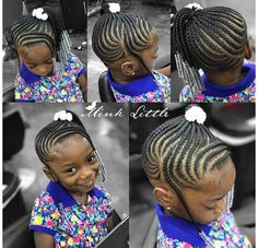 146 Likes, 3 Comments - Natural Hairstyles for Girls (Brown Girls Hair) on Insta. - The Right Hair Styles Cornrow Styles For Girls, Little Girl Braid Styles, Little Girl Braid Hairstyles, Kid Braid Styles, Little Girl Braids, Girls Natural Hairstyles, Natural Hairstyles For Kids, Baby Girl Hairstyles, Kids Braided Hairstyles