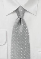 Punkte-Krawatte silbergrau günstig kaufen