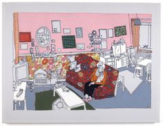 'Poppy in her living room' Textile by Laura McCafferty, 2006