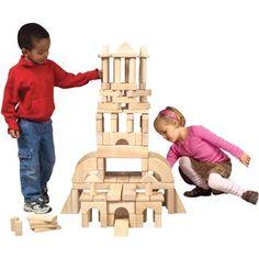 Guidecraft Classroom Unit Blocks, 110 Pieces-- Walmart