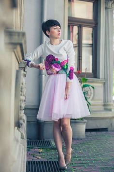 #skirt #tiul #kwiaty #blog #blogger #look #inspiration #pink #love