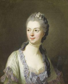 Louis-Michel van Loo TOULON 1707 - 1771 PARIS PORTRAIT DE LA PRINCESSE GALITZINE; SIGNED LOWER RIGHT L.M. VAN LOO / 1764 ; OIL ON CANVAS