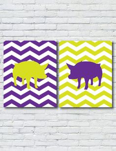 Opposites Attract Pig Prints