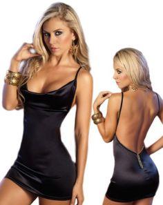 Backless Black Dress - Sexy Sleeveless Style