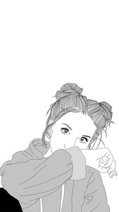 Iphone 6 Wallpaper Tumblr, Girl Wallpaper, Outline Drawings, Outline  Images, Tumblr Outline