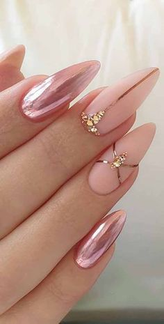 incredible nil course of action may not be vital for you as you may get other. -An incredible nil course of action may not be vital for you as you may get other. Rose Gold Nails, Pink Nails, Glam Nails, Beauty Nails, Cute Acrylic Nails, Cute Nails, Hair And Nails, My Nails, Nagel Gel
