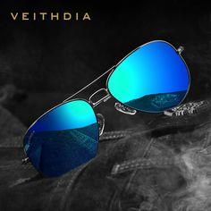 Encontrar Más Gafas de Sol Información acerca de 2016 Nuevos VEITHDIA  Polarizadas Diseñador de la Marca c7541e7a702f