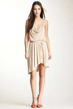 Haute Hippie Cowl Front Dress with Ruffle Trim on HauteLook