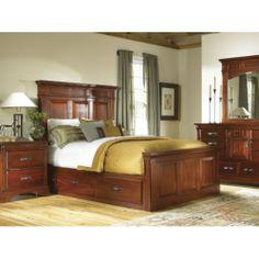 Kalispell Queen Mantel Bed with Under Bed Storage Bedroom Suite | HOM Furniture