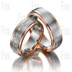 FEIL WTAu-443 Többszínű Arany Karikagyűrű Wedding Rings, Engagement Rings, Jewelry, Brides, Rings, Accessories, Enagement Rings, Jewlery, Jewerly