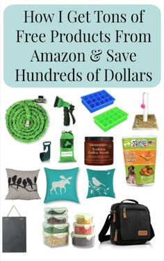Learn how I get tons of products from Amazon for free and save myself hundreds of dollars.