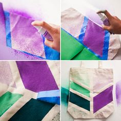 How to spray dye a plain canvas tote—so easy!