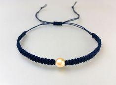 AmreyShop on Etsy Braided Bracelets, Handmade Bracelets, Etsy Seller, Beaded Necklace, Jewelry, Conch Shells, Lead Glass, Majorca, Dark Blue