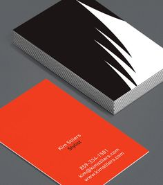 "Graphic Hair: stylists, hairdressers and salon owners can be bold and minimalist at the same time with these Business Cards; a clear, direct message that tells new clients ""Don't worry - your hair is in safe hands with me"". #moocards #luxebymoo #businesscard"