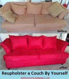Home Decor DIY: How To Reupholster A Couch By Yourself (Especially If Youu0027
